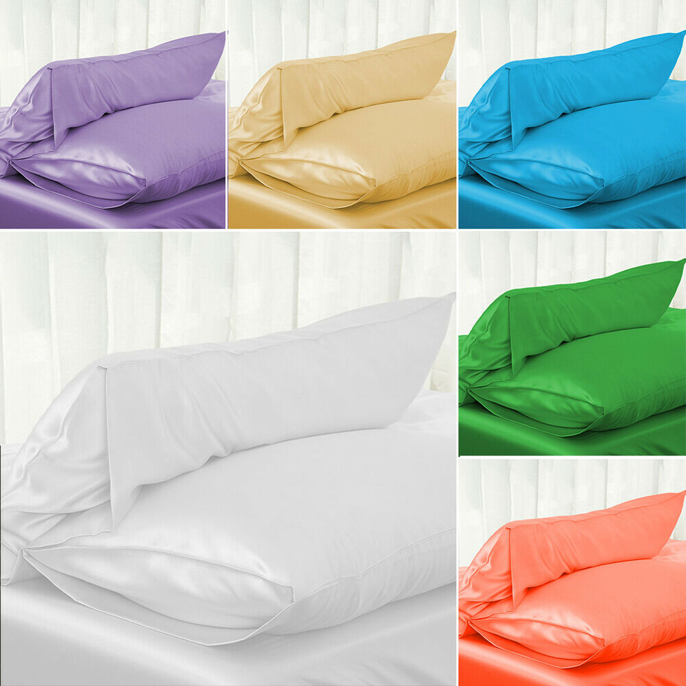 Satin Pillowcases With Zipper 20 30