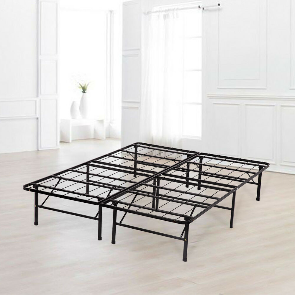 Box Spring Refurbrished Platform Bed Frame Queen Box Spring Mattress Foundation Metal Ebay