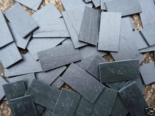 50 Small Scale Real Slate Miniature Roof Tiles Ebay