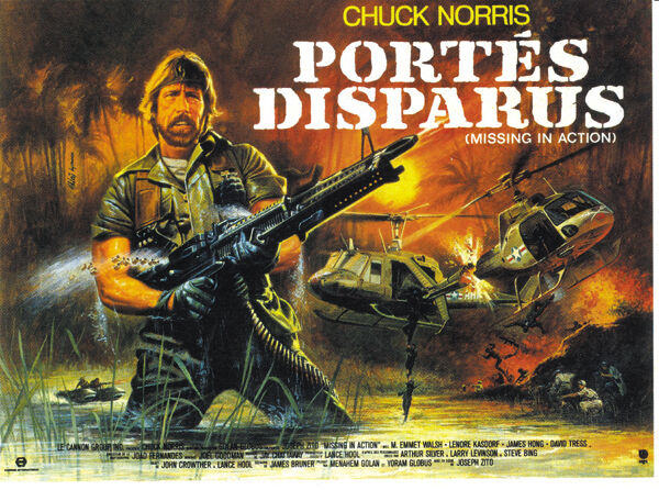 Missing in action Chuck Norris vintage movie poster #2 eBay