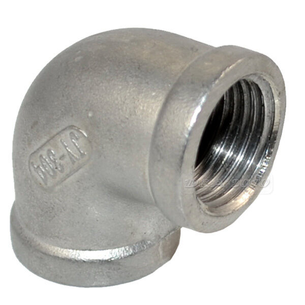 """1/2"""" BSP 304 Stainless Steel Elbow 90 degree angled Pipe"""