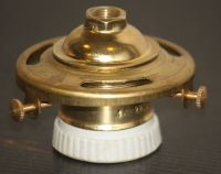 Shade Holder Light Bulb Socket vintage Brass Porcelain 2 1 ...