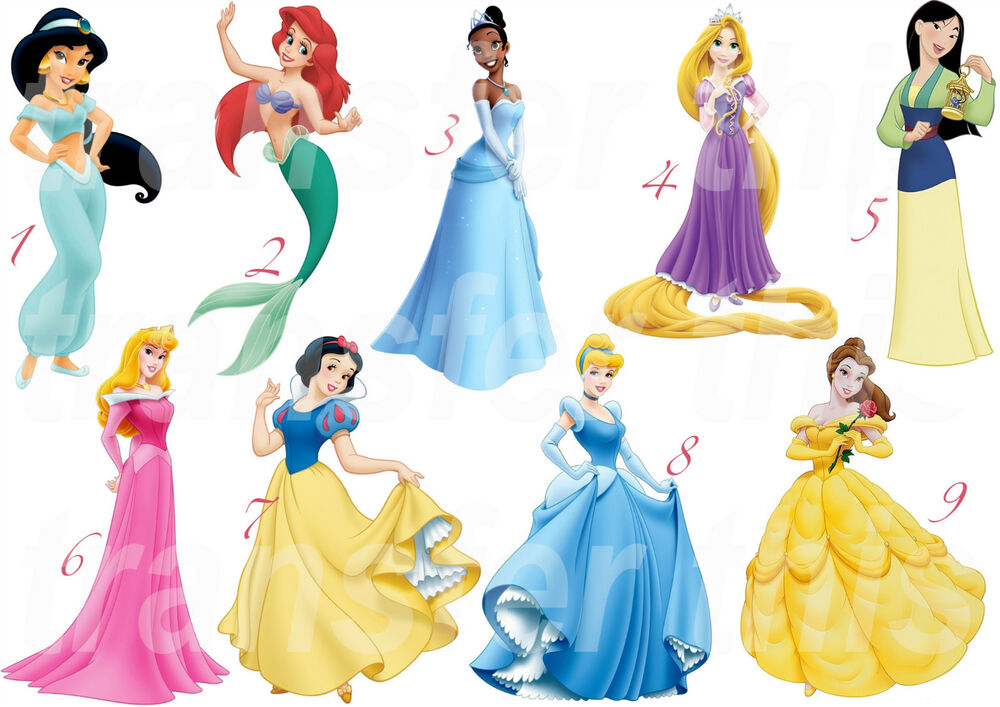 Disney Princess Sticker Wall Decal Or Iron On Transfer T