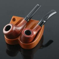Tobacco Pipe Wood Stand/Rack/Holder For 2 Pipes New | eBay