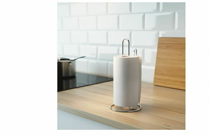 Ikea Kitchen Roll Paper Holder Silver Colour Torkad Towel
