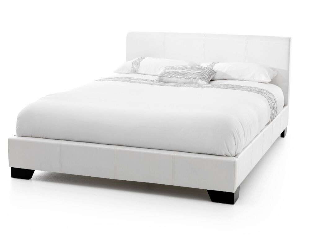 Exclusive Bed World 5ft White Faux Leather Bed Frame Ebay