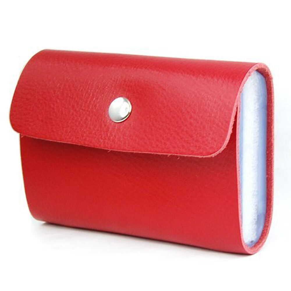 Red Premium Leather Wallets Credit Card Holder Id Business