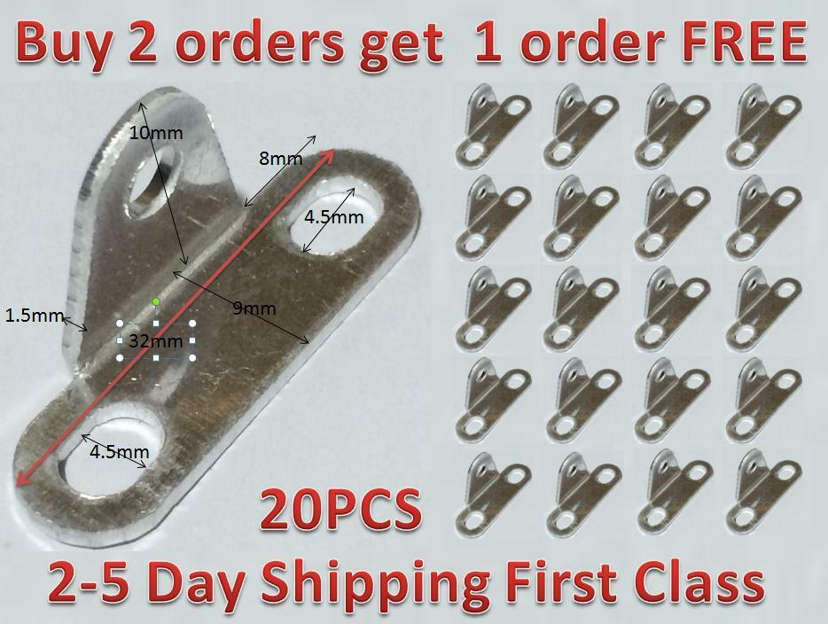 20 Pcs Aluminum Alloy Mounting Thread Dia 3 Hole Right Angle Bracket Support Ebay