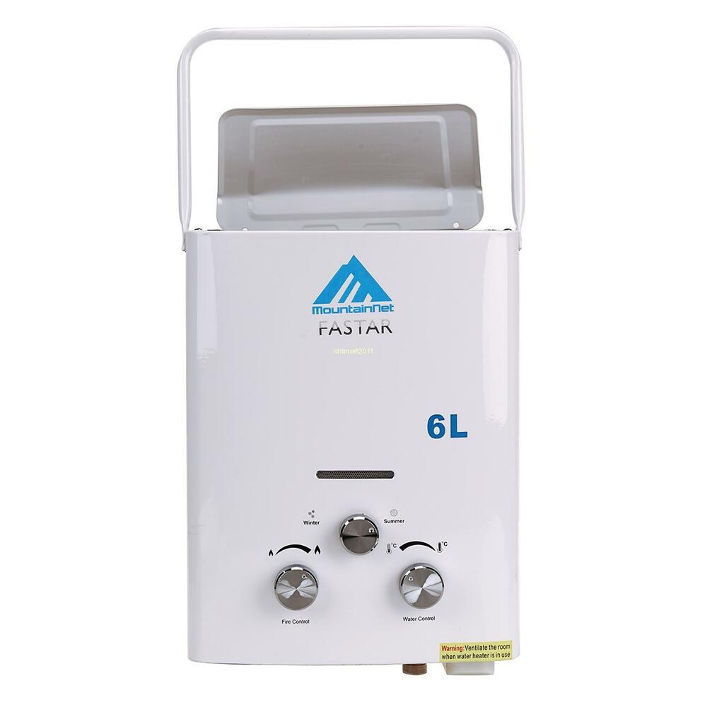 6l Instant Portable Lpg Propane Gas Tankless Hot Water