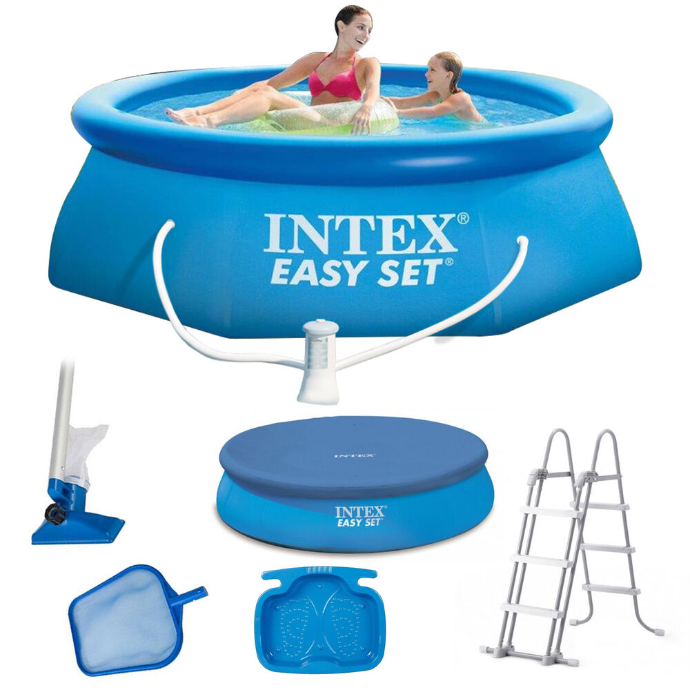 Wärmepumpe Quick Up Pool Intex Easy Set Swimming Pool Schwimmbecken Quick-up