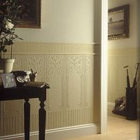 Anaglypta Dado Panels Oriental White Textured Paintable ...