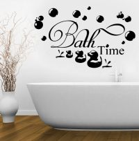 Bath Time Ducks Soak Relax Quote Wall Stickers Art ...