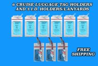 6 Royal Caribbean Cruise Lines Luggage Tag Holders & 3 I.D