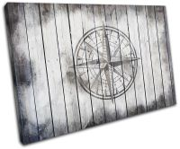 Compass Shabby Chic Vintage SINGLE CANVAS WALL ART Picture ...