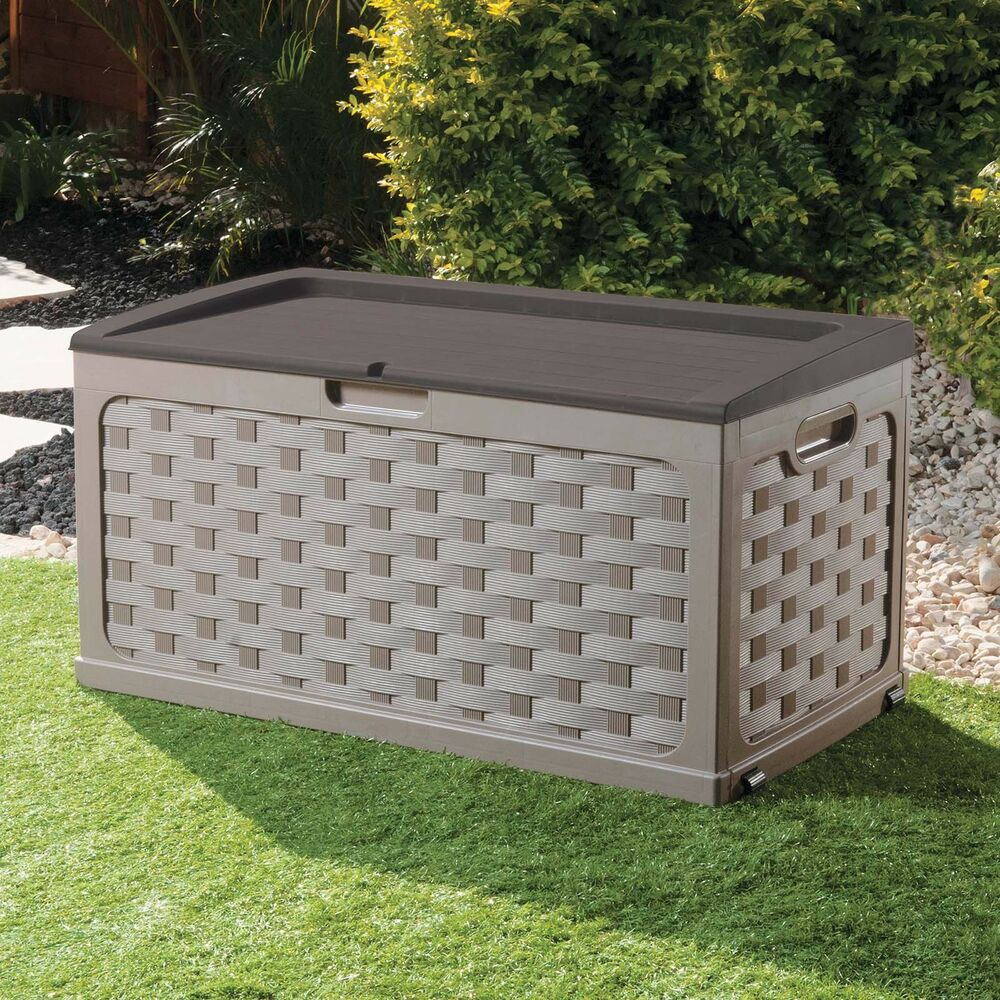 Xl Large Garden Storage Cushion Box Utility Shed Sit On