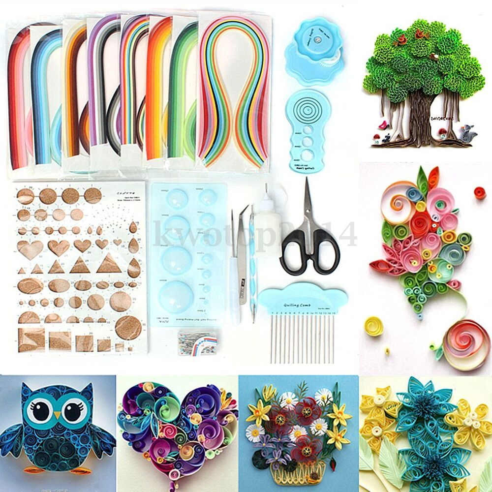 960 Strips 3mm 5mm Paper Quilling Diy Craft Kit Board