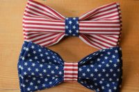 American Flag Bow Tie NEW Made in USA Patriotic Pre-Tied ...