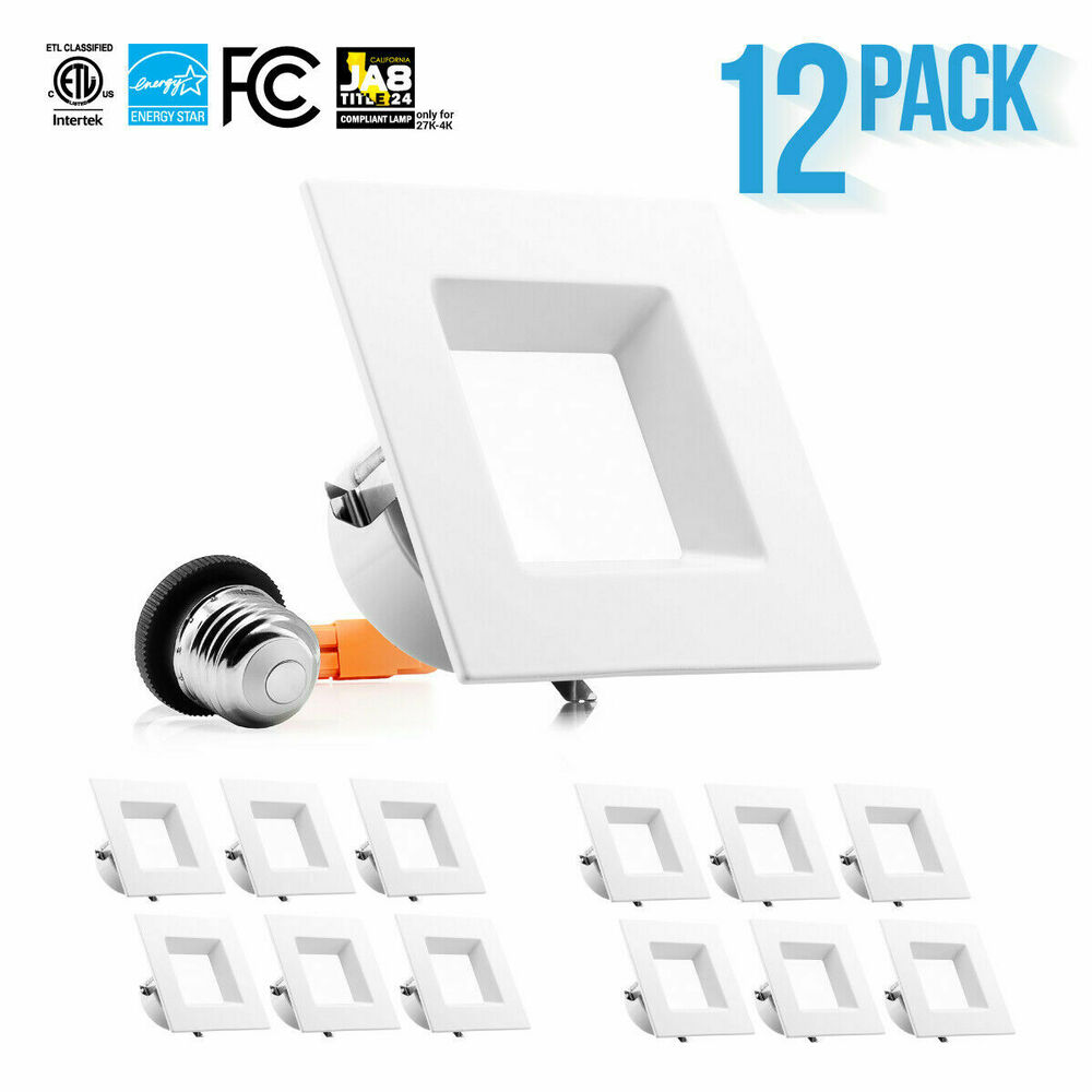 12 Square Recessed Lighting Trim 12 X 4 Inch 10w Square Trim Downlight Recessed Dimmable