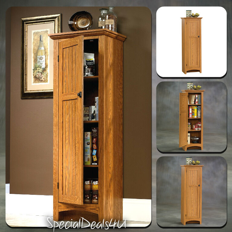Kitchen Storage Cabinet Pantry Organizer Tall Cupboard