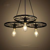 Large Chandelier Lighting Kitchen Black Pendant Light