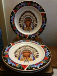 Tienshan NATIVE AMERICAN Indian Chief Southwestern Teepee ...