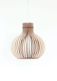 Wood Lamp / Wooden Lamp Shade / Hanging Lamp / Pendant ...