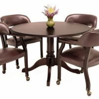 TRADITIONAL ROUND CONFERENCE TABLE AND CHAIRS SET Meeting ...