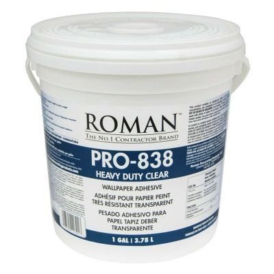 Roman 011301 PRO-838 1 gal Heavy Duty Wallpaper Adhesive Clear | eBay