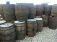 Solid Oak 180L Watertight Used Whisky Wooden Barrels Keg ...