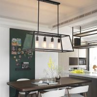 Large Chandelier Lighting Bar Glass Pendant Light Kitchen ...
