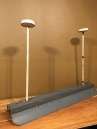 Antique Industrial Ceiling Light Fixture VTG 1930s