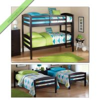 Bunk Beds Twin Over Twin Kids Boys Girls Bunkbeds ...