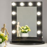 Black Hollywood Makeup Vanity Mirror with Light Dimmer ...