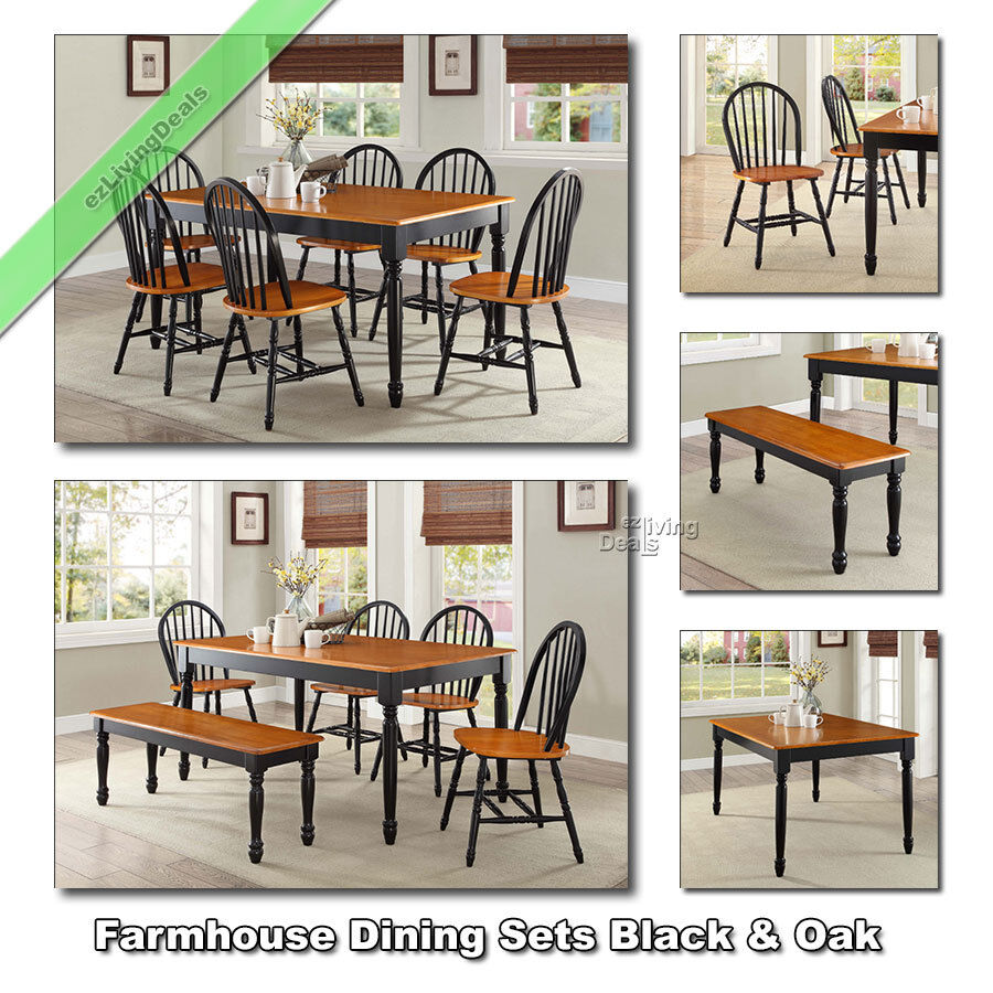 Dining Tables Sets Farmhouse Chairs Benches Wood Country