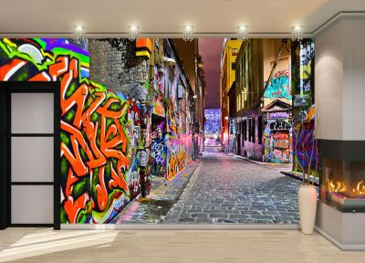 Night view -Graffiti Artwork Wall Mural Photo Wallpaper GIANT DECOR Paper Poster 7104699811701 ...