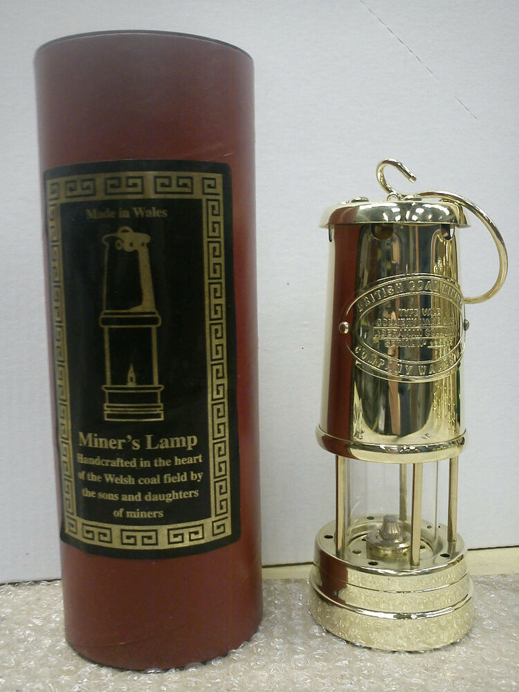 Brand New British Coal Brass Miners Lamp Made In Wales