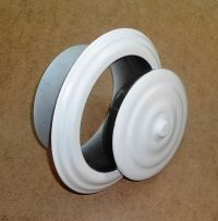 CHIMNEY STOVE PIPE FLUE HOLE COVER WALL ROSETTE COLLAR CAP ...