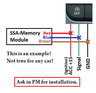 NEW! Start Stop Memory module with SERVICE MODE! / Start-Stop SSA