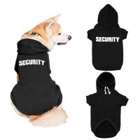 SECURITY Dog Clothes Sweatshirt Pet Puppy Coats Hoodie ...