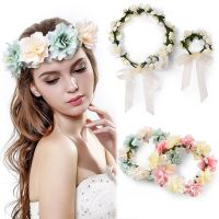 Floral Flower Crown Headband Hair Garland Wedding