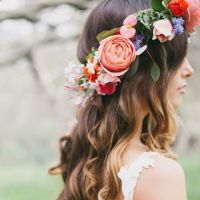 Women Wedding Boho Flower Hair Garland Crown Headband