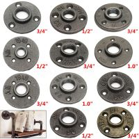 "1/2"" 3/4"" 1"" Black Malleable Cast Iron Pipe Fittings Floor ..."