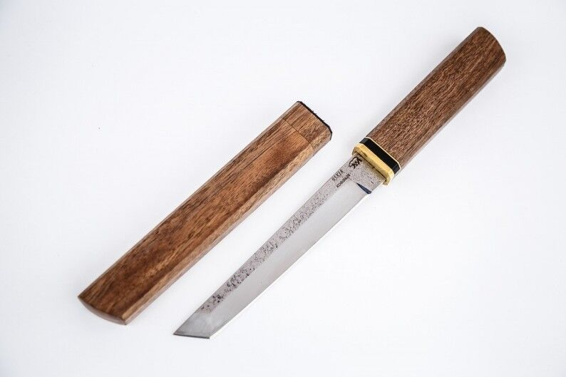 Damastmesser Kaufen Japanese Knife Tanto + Wood Sheath. Samurai Handmade