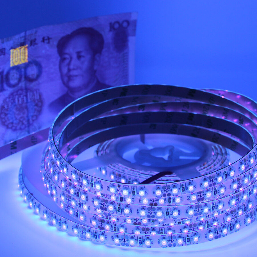 Ultraviolet Lamp Led Uv Strip Light Smd 3528 Ip65 Waterproof 120led Ultraviolet Lamp For Boat Car Ebay