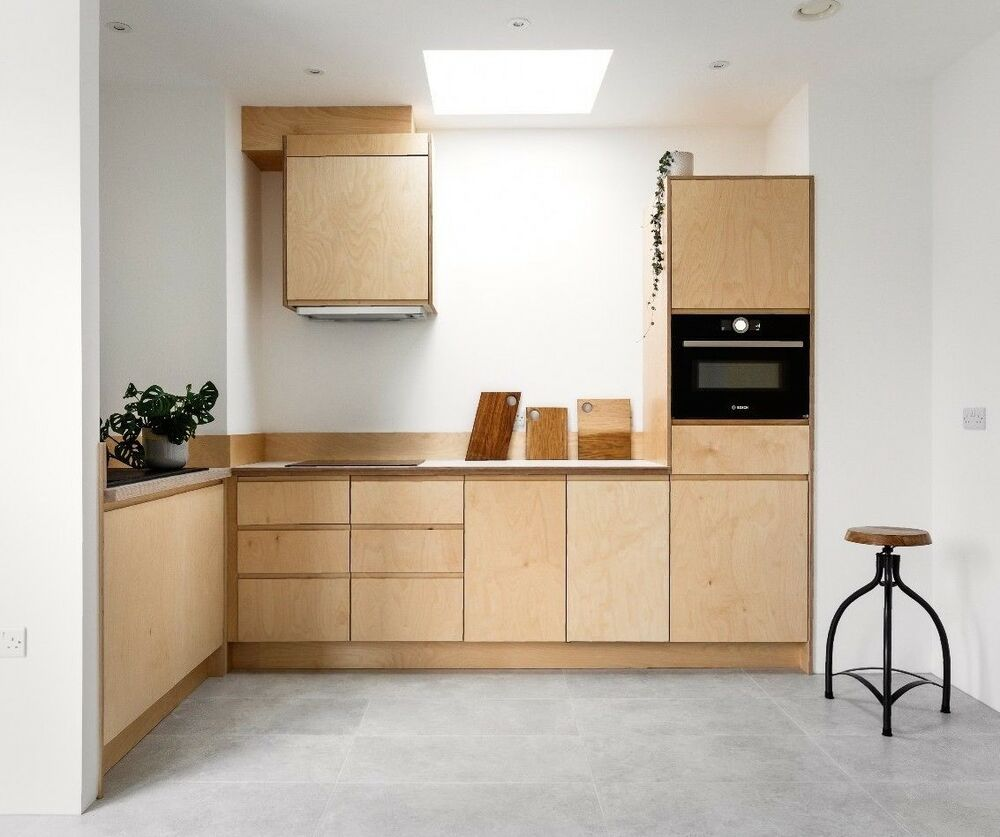 Metod Ikea Baltic Birch Plywood Kitchen Doors Handmade In The Uk Can Fit Ikea Metod Units Ebay