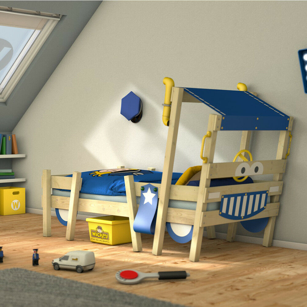 Kinderbett Junge 90x200 Wickey Lit Enfant Crazy Sparky Pro Lit Cabane Lit Simple