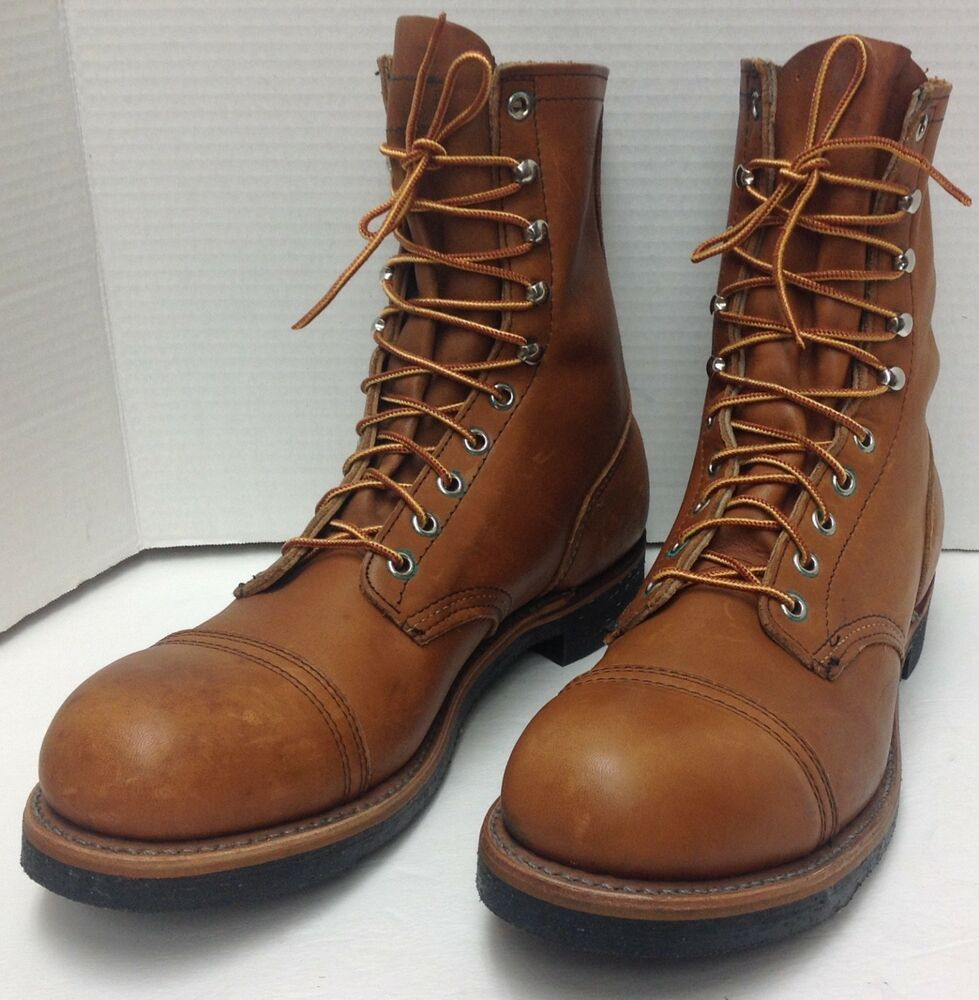 Rare Vintage Red Wing Steel Toe Work Boots Style 915