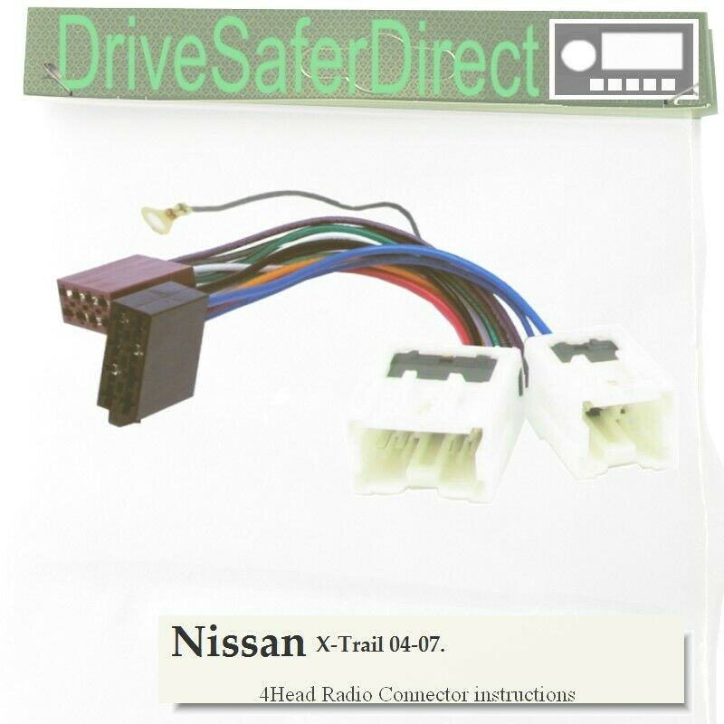 4-Head-5202-91 Head Unit Cable for Android ISO Radio/Nissan X-Trail
