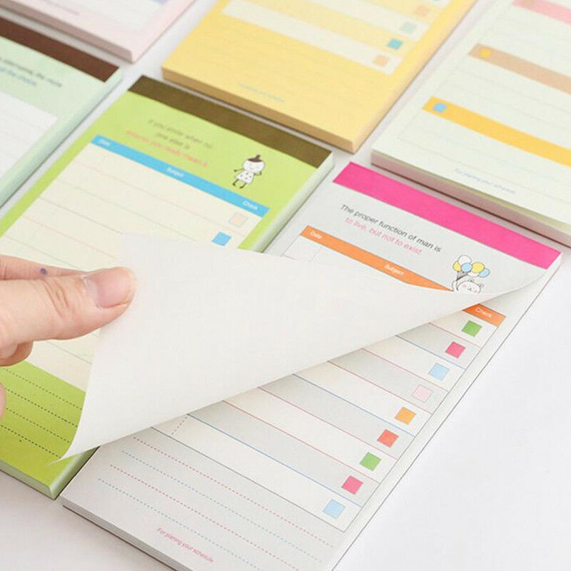 High quality Business Daily Schedule Memo Pad Office Checklist