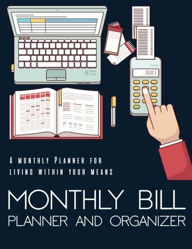 Monthly Bill Planner Organizer Budget Planning Book Financial